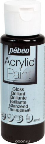 Pebeo Краска акриловая Acrylic Paint глянцевая цвет 097860 черный 59 мл