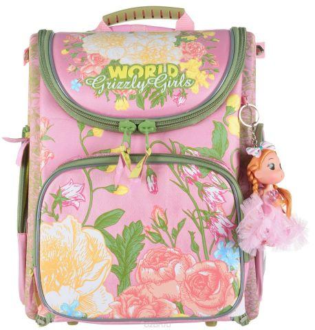 Grizzly Рюкзак с мешком для обуви цвет розовый RA-871-4