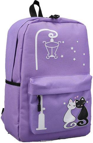 Рюкзак детский Под фонарем цвет сиреневый 2826019