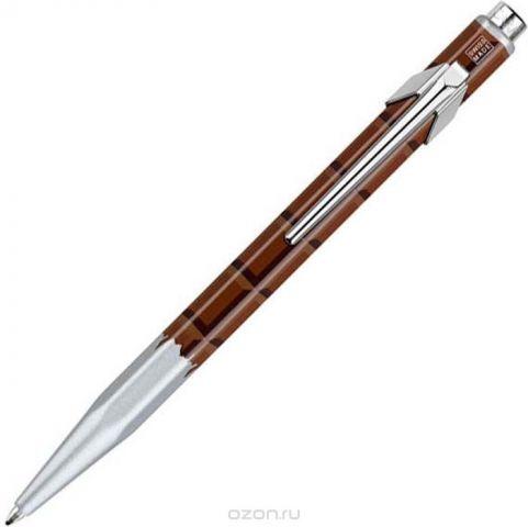 Caran d'Ache Ручка шариковая Office Essentialy Swiss цвет корпуса: коричневый, цвет чернил: синий