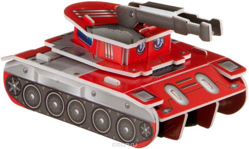 Bondibon Сборная 3D модель Танк цвет красный