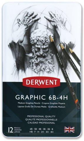 Derwent Набор чернографитных карандашей Graphic Medium 12 шт
