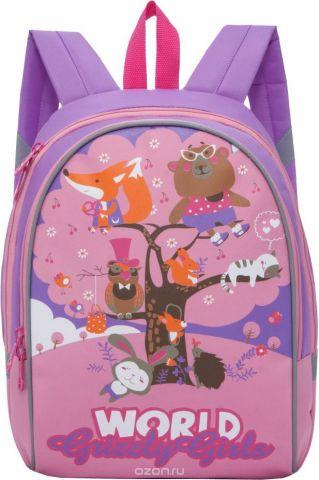 Grizzly Рюкзак детский цвет фиолетовый розовый RS-897-3/2