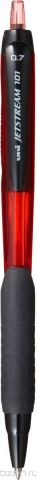Набор автоматических шариковых ручек Uni, Jetstream SXN-101-07, цвет чернил: красный, 12 шт