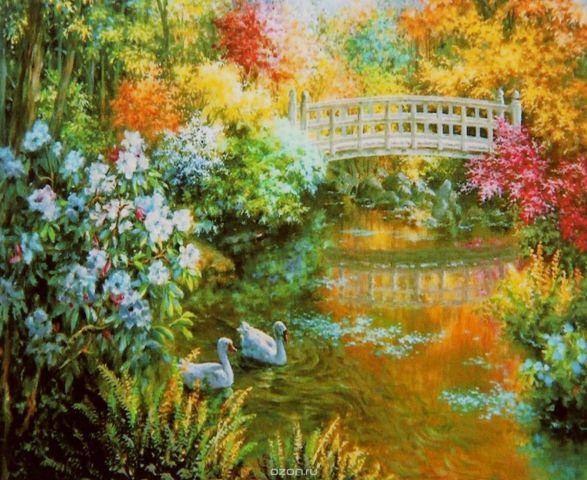 "Картина по номерам Школа талантов ""Мост через реку"", 2467729, 30 х 40 см"
