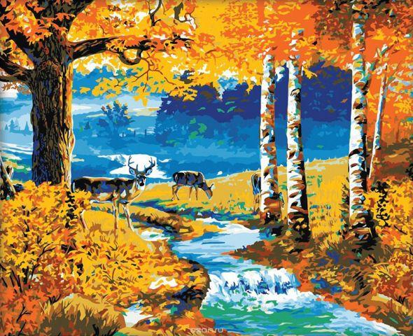 """Картина по номерам Школа талантов """"Осенний лес"""", 2711886, 40 х 50 см"""