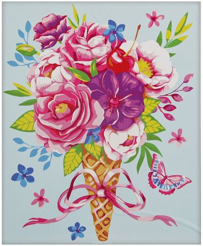 "Картина по номерам Школа талантов ""Цветы"", 2869704, 40 х 50 см"