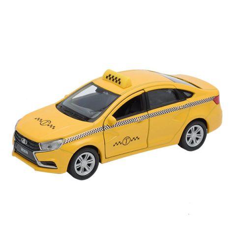 Welly 43727TI Велли Модель машины 1:34-39 LADA Vesta такси