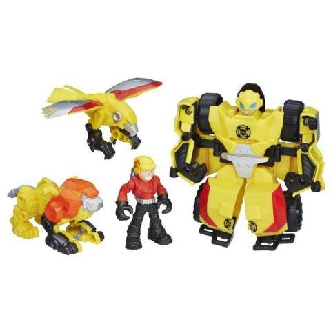 "Hasbro Playskool Heroes C0212/C0296 Трансформеры Спасатели Набор спасателей ""Отряд Бамблби"""