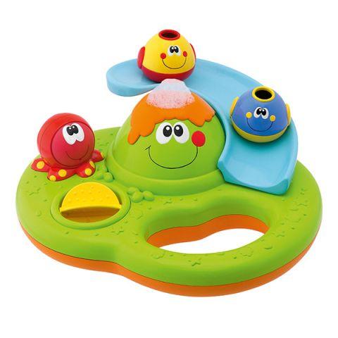 """CHICCO TOYS 70106A Игрушка для ванны """"Остров с пузырьками"""" 6 месяцев"""