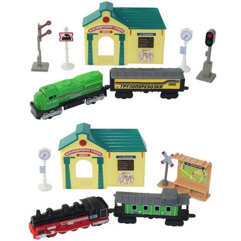Wincars 30518 Набор Железнодорожная станция: поезда и аксессуары