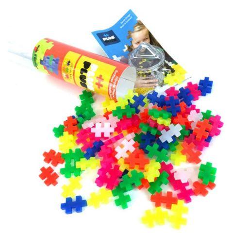 Plus Plus 4024 Разноцветный конструктор для создания 3D моделей (неон)