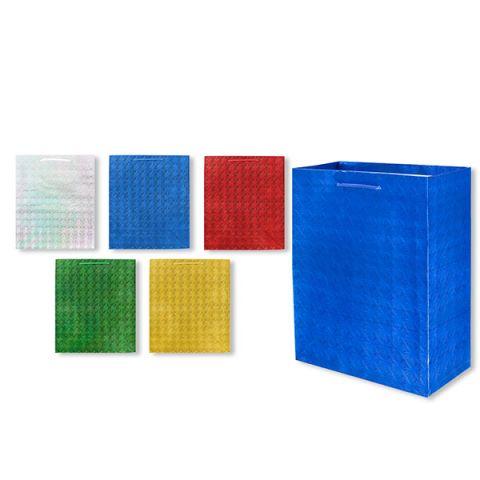 Пакет подарочный бумажный S1492 голография 45x32x13 см, 5 видов (в ассортименте)