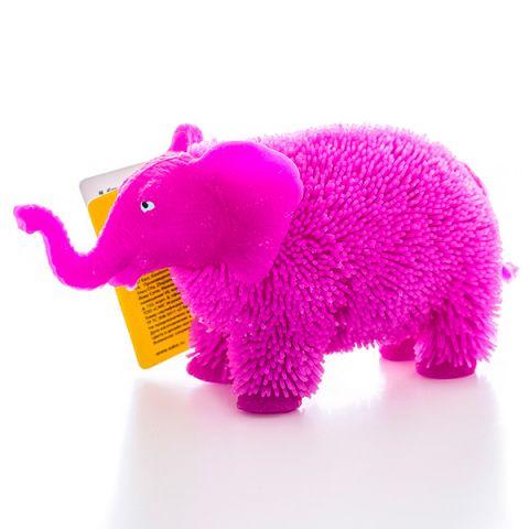 HGL SV11190 Фигурка слон с резиновым ворсом с подсветкой (в ассортименте)