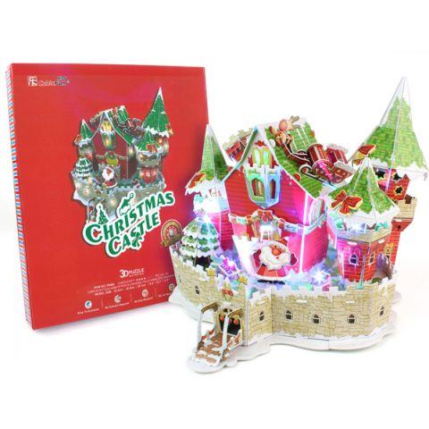 Cubic Fun P646h Кубик фан Сказочный рождественский замок (с подсветкой)