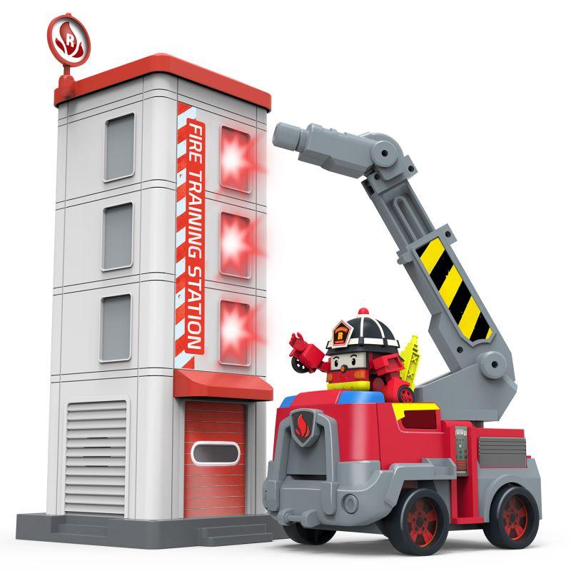 Robocar Poli Рой — самый серьезный пожарный в спасательном отряде